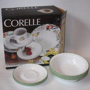 Corelle Chutney Soup Bowl Saucer Original Box LOT